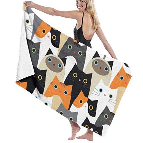 Yuanmeiju Toalla de baño Beach Towels Cat Bath Towels For Teen Girls Adults Travel Towel Washcloth 31x51 Inches