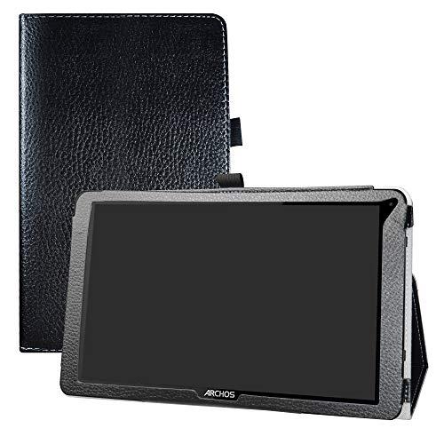 LFDZ Archos 101F Neon Hülle, Schutzhülle mit Hochwertiges PU Leder Tasche Case für 10.1