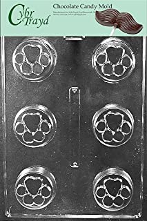 Cybrtrayd Life of the Party A140 Paw Print Cookie Chocolate Candy Mold in Sealed Protective Poly Bag Imprinted with Copyrighted Cybrtrayd Molding Instructions