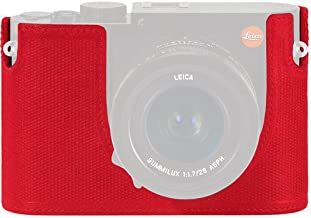 Leica Protector - Q (Typ 116), Leather, red