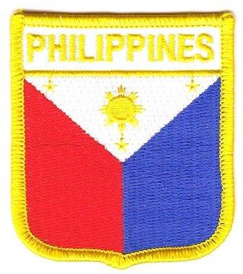 Wappen Aufnäher Patch Philippinen Flagge Fahne NEU