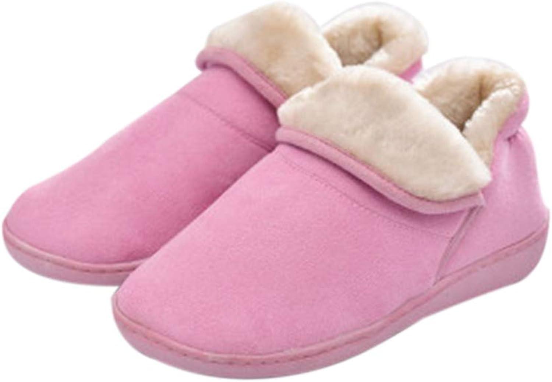Nafanio Winter Warm Boots Women Men Warm Soft Cotton Flannel Indoor Floor Home shoes Couple Bedroom House Furry Slippers