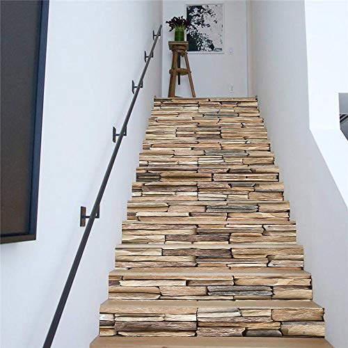 Autoadhesiva de bricolaje mural extraíble paraescalerascalcomanía - Pegatinas de escalera de pared...