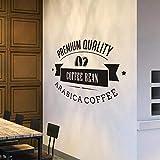 WERWN Etiqueta engomada del Logotipo de la cafetería de la Moda Creativa decoración de la cafetería Etiqueta de la Puerta de la Ventana de la Taza de la Pared del Grano de café