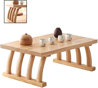 Household Kang Table Bedroom Balcony Floor Table Tatami Table Small Coffee Table Japanese Style Solid Wood Tea Table Zen Bay