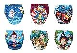 OZYOL Abenteuer 6er Pack Wasserdicht Baby Lernwindel Trainerhosen Unterwäsche Windeln Windelhose zum Toilettentraining Töpfchentraining (Set, 80)