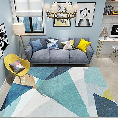 La Alfombra comedores Modernos alfombras Alfombra del sofá de la Sala de Estar del diseño geométrico de la Tinta Gris Amarilla Azul antiacaros alfombras The Home déco 160*200cm