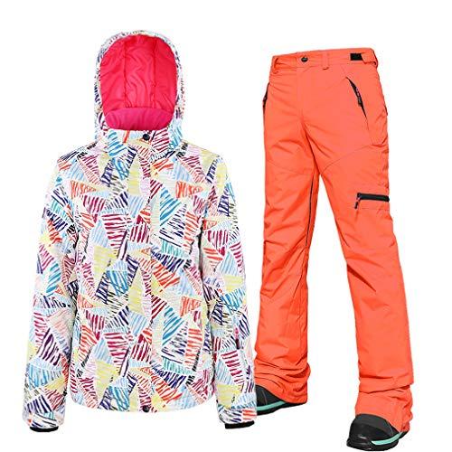 Skipak, voor dames, 2-delige set, skibroek, snowboard/jas, winddicht, ademend, skiën, snowboarden, outfit