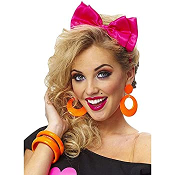 Franco American Novelty Company Headband with Bow in Satin Pink,One Size