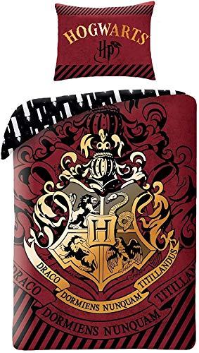 Finoo Harry Potter Hogwarts Bettwäsche 140x200cm+70x90cm Rot/Weiß