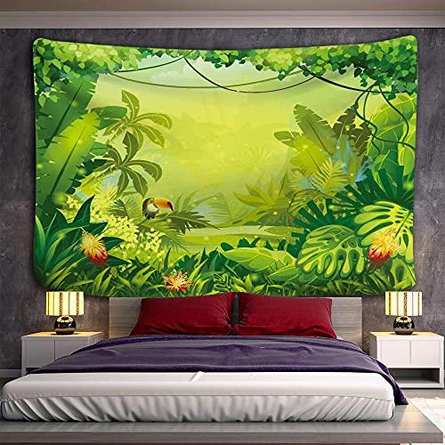 KHKJ Tapiz de Bosque Tropical para Colgar en la Pared, decoración de Dormitorio Familiar, Tela, impresión artística Bohemia, A2 230x180cm