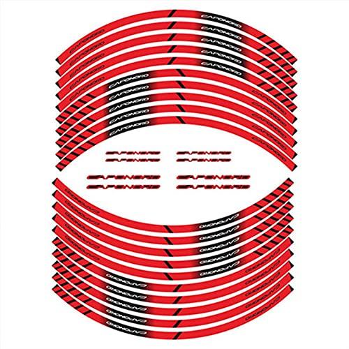 Motocicleta 20 Strip Pegatinas de neumáticos Rueda Exterior Decoración Reflectante Calcomanías para Aprilia Caponord All Caponord1200 Caponord1000 (Color : 3)