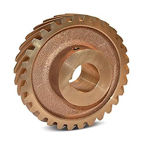Boston Gear HB636L Web Helical Gear, 45 Degree Helix, 14.5 Degree Pressure Angle, 1.250 Bore, 6 Pitch, 36 Teeth, Bronze, LH