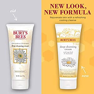 Burt's Bees Soap Bark and Chamomile Deep Cleansing Cream, 6 Oz (Package May Vary)