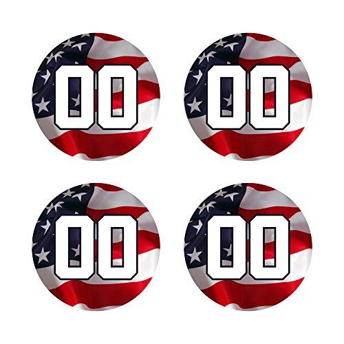 自定义棒球棒贴花设定-美国国旗设计蝙蝠旋钮贴纸