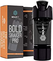 Boldfit Gym Shaker Pro Cyclone Shaker 500ml with Extra Compartment, 100% Leakproof Guarantee, Ideal for Protein,...