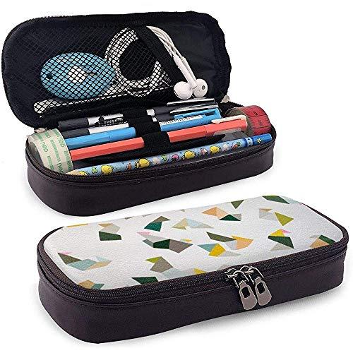 Estuche de lápices de cuero PU con cremallera, Estuche de marcador de almacenamiento de gran capacidad para animales de Origami Estuche para lápices, Bolsa de maquillaje cosmético