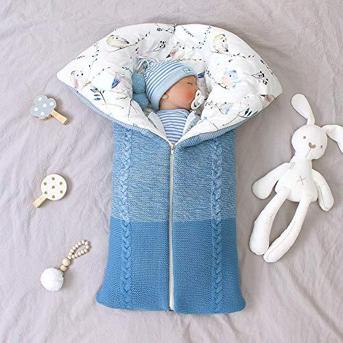 Waroomss Schlafsack Für Baby Babyschlafsack Safe Nights Cotton Babyschlafsack Cute Infant Boy Girls Schlafsack Baby Wrap Blanket Doppelschicht-Winterschlafsäcke Für Kinderwagen 0-12Monat