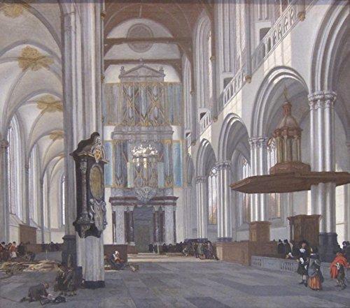 Het Museum Outlet - Interieur van de Nieuwe Kerk in Amsterdam. 1657 - A3 Poster