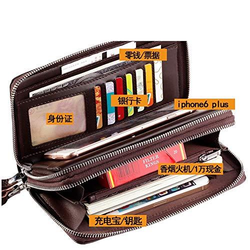 Intramachine Außenhandelsquelle Multi-Card Herrenhandtasche Doppelreißverschluss Großkapazitäten Herren Business Handtasche Herren Clip Bag Kartentasche