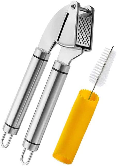 IOIOA Max 46% OFF Garlic Press Stainless Steel Br Mincer Crusher OFFicial site + Cleaning