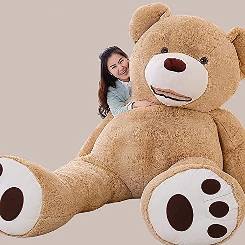 MorisMos Groß Teddybär Spielzeug Puppe Weiches Plüsch Braun 260cm