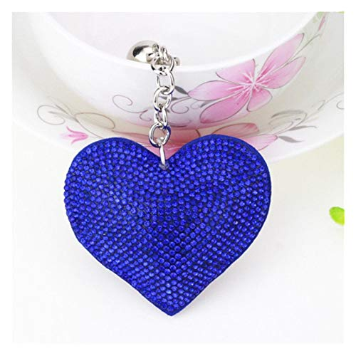 Yzymyd Key chain Mix Colors New Car Keychain Heart Key Chain with Crystal Inlay Pearl Rhinestone Key Chain Key Women Accessories (Color : 44)