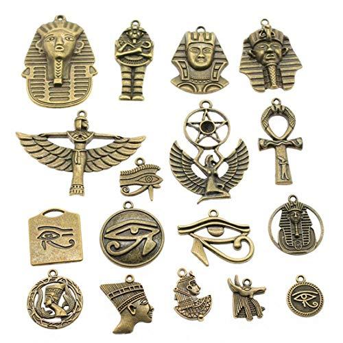 Egipto 100 g de bronce antiguo/plata egipcio Series colgante