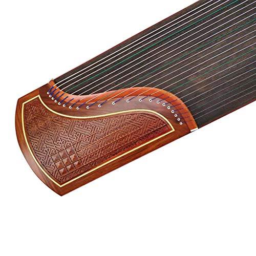 JXXZYH Huanghuali Massivholz Zither schnitzen, Zither Spielen, professionelles Prüfungszitherinstrument für Anfänger