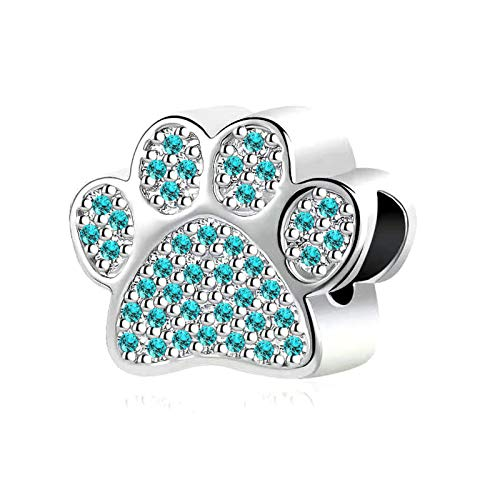 NanMuc Puppy French Bull Dog Paw Prints Jewelry Making Charms for Bracelets Devoted Dog Bulldog Pets Animal for Women Grandma Sister