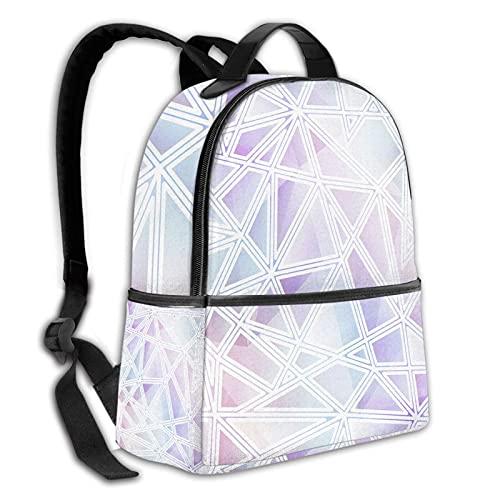 fepeng Color triángulo mochila para niñas niños viaje durable casual adolescentes Bookbag 15 pulgadas portátil universidad daypack mujeres hombres, Negro, Talla única
