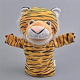 FGBV 20cm Moderne Cartoon Kinder Baby Spielzeug Hand Puppe Puppe Tier Tiger Handschuhe Kinder Weiche Plüschspielzeug Manmiao
