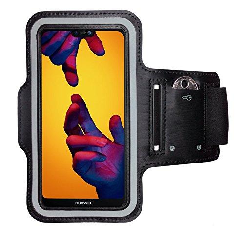 CoverKingz Sportarmband für Huawei P20 Lite - Armtasche mit Schlüsselfach P20 Lite - Sport Laufarmband Handy Armband Schwarz