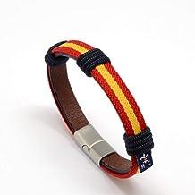 Cord/ón azul marino con bandera de Espa/ña HISPANIA COLORS SINCE MMXI SPAIN Pack de 2 colgantes para mascarillas y gafas