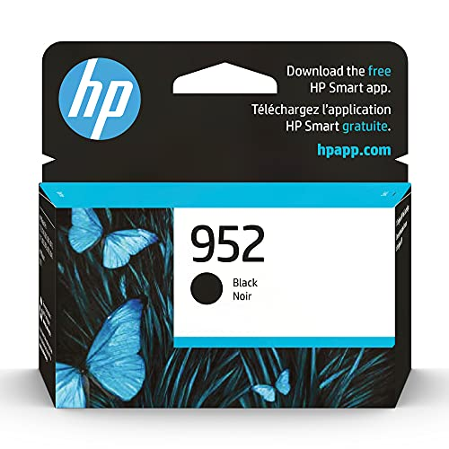 Original HP 952 Black Ink Cartridge | Works with HP OfficeJet 8702, HP OfficeJet Pro 7720, 7740, 8210, 8710, 8720, 8730, 8740 Series | Eligible for Instant Ink | F6U15AN