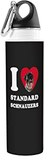Tree-Free Greetings VB49128 I Heart Standard Schnauzers Artful Traveler Stainless Water Bottle, 18-Ounce