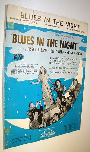 Blues in the Night - Sheet Music for Voice and Piano with Ukulele Chords