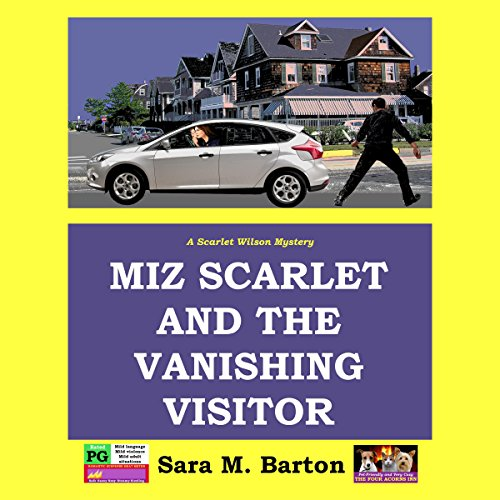 Miz Scarlet and the Vanishing Visitor audiobook cover art