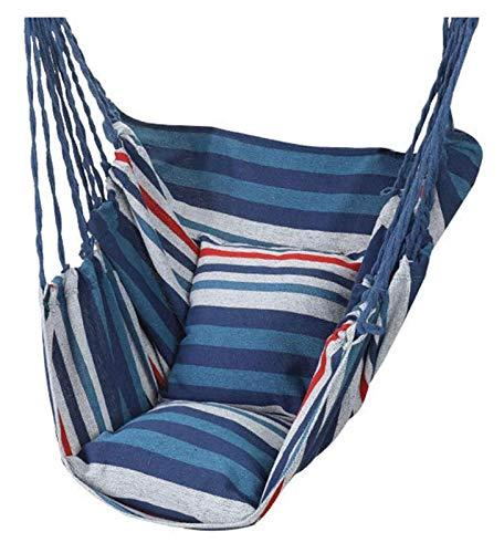 WERTYG Luxury Swing Chair Hammock, Color Garden Hanging Hammock Chair with Pillow Swing Chair 130 100cm for Indoor/Outdoor Max 150KG (Color : D)
