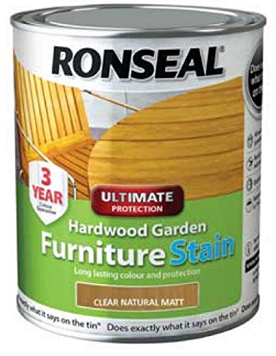 Ronseal HWFSNM750 Hardwood FurnIture Stain Natural Matt 750ml