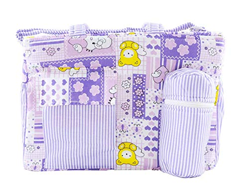 Ole Baby Big Colorful Apple Printed and Striped Diaper Bag Children One Size