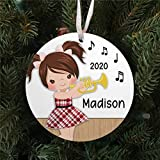DONL9BAUER Personalized Girl Playing The Trumpet Christmas Ornaments Xmas Tree Decorations Hanging Ornament Keepsake Family Friends Present 2020 A Year to Remember