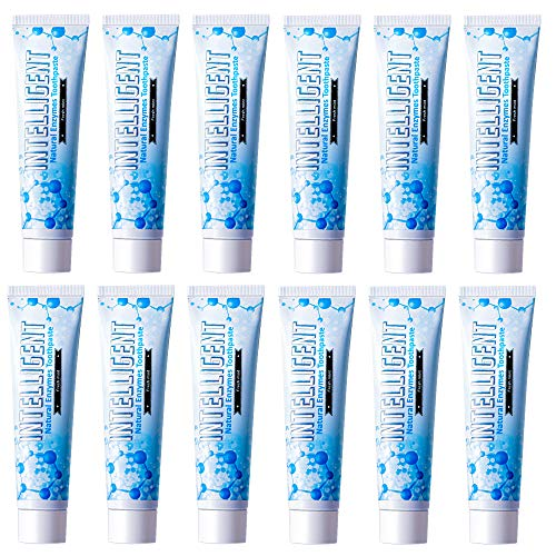 Intelligent Enzymatic Teeth Whitening Toothpaste (Best Natural Oral Care for Canker Sore and Dry Mouth) Sulfate-Free, Fluoride-Free, Non-Foaming, (Value 12 Count - Mild Mint 4.41 Ounce)