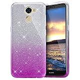 EINFFHO Huawei Enjoy 7Plus móvil, Huawei Y7Funda, Carcasa Huawei Y7Prime Funda de Silicona, 2en 1Brillante Bling TPU Silicona Funda Case para Huawei Enjoy 7Plus