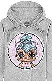 L.O.L. Surprise ! Sweat Capuche Fille avec Poupées LOL Kitty Queen et Unicorn en Paillettes Réversibles, Sweat-Shirt Manches Longues en Coton, Pull à Capuche Enfant, Cadeau Licorne Filles (7-8 Ans)