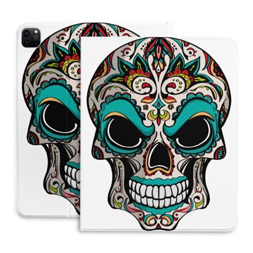 Cover Ipad Brigh Etnico Gotico Sugar Skull Custodie Cover Ipad Con Portamatite Compatibile Con Ipad 2020 Pro 11/12,9 Pollici