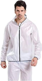 OUTFE Raincoat Motorcycle Cycling Rain Suits, Men's Waterproof Jacket & Trouser Set Raincoat, Lightweight Outdoor Hiking R...