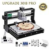 HUKOER 3018 Pro CNC Machine de Gravure laser engraving machine,CNC 3018 Pro GRBL Control DIY Mini CNC Machine, Fresadora de PCB de 3 ejes, Grabadora de madera con controlador fuera de línea