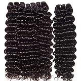 LVY tissage naturel cheveux humain 8A cheveux naturel brésilienne deep wave tissage 4 liasses 18 20 22 24 pouce tissage bresilien en lot pas cher