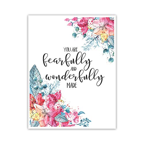 """Fearfully and Wonderfully Made"" Cardstock Print 8.5x11"""